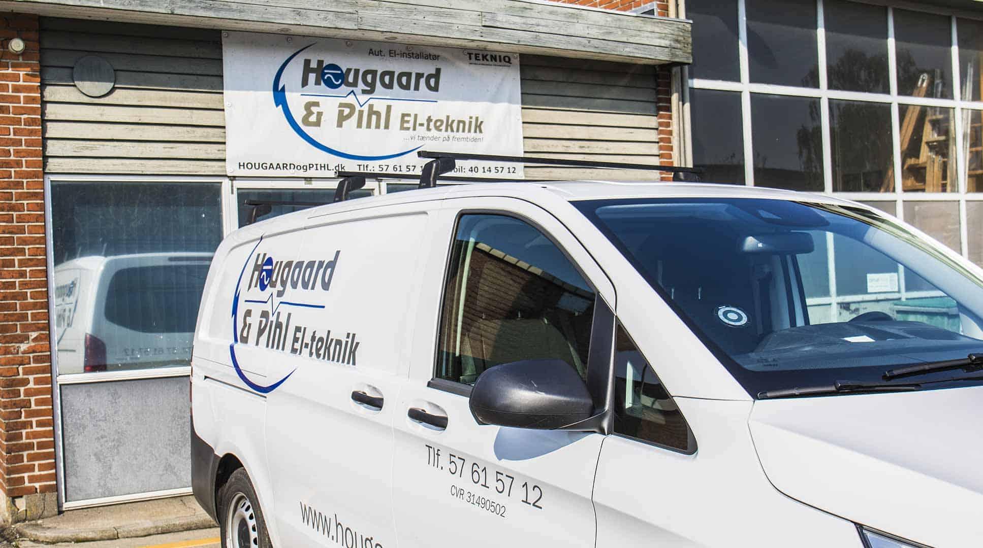 Elektriker firmabil fra Hougaard & Pihl