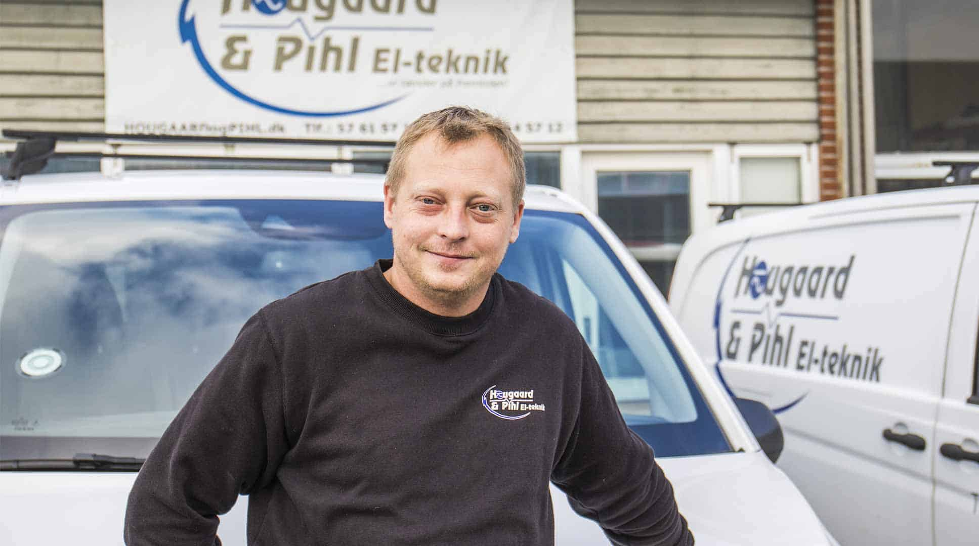Elektriker fra Hougaard & Pihl i Ringsted