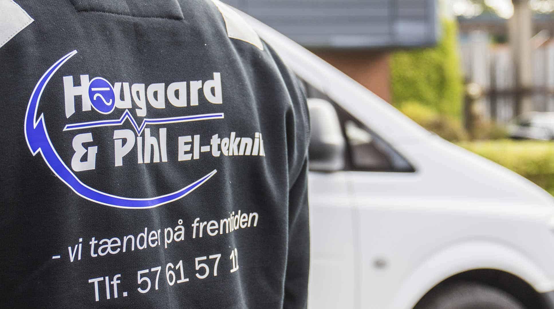 Logo på medarbejder til Hougaard & Pihl El-teknik